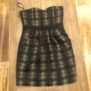 NWT Strapless, Plaid Dress from H&M